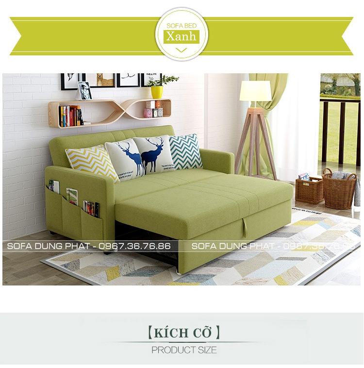 sofa giường đa năng 1m8 màu xanh