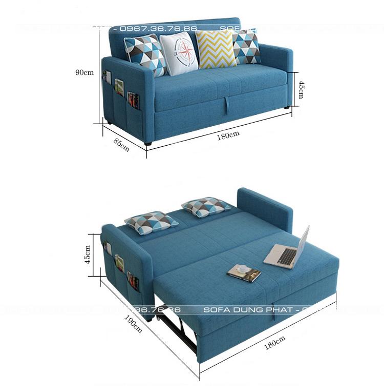 kích cỡ sofa giường đa năng