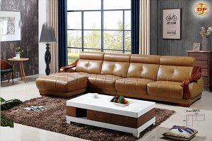 Sofa Da Đẹp Cho Phòng Khách Thêm Sang Trọng DP-CC08
