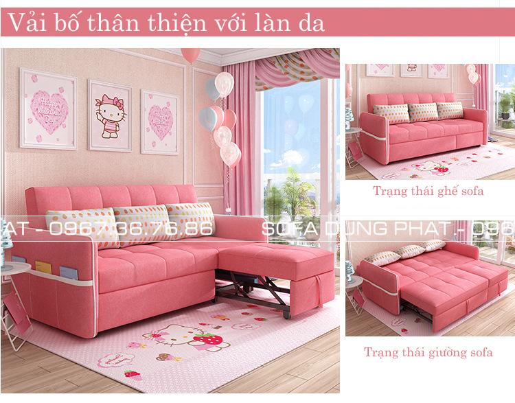 sofa giường kéo kích thước 2m1