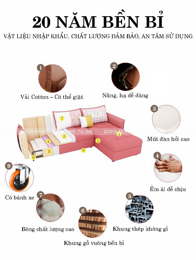 sofa giường loại 2m1