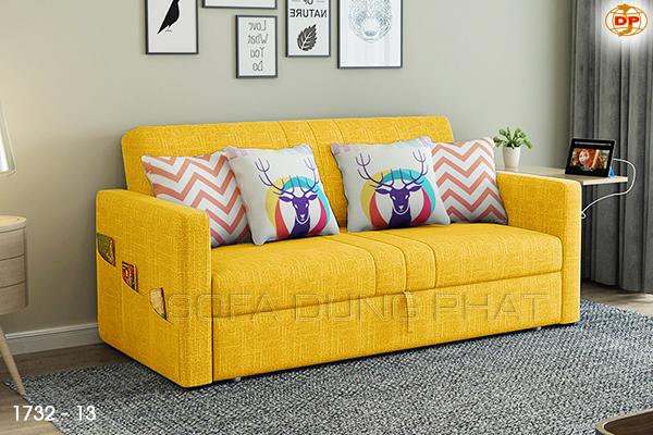 Sofa Giường Kéo Màu Vàng Đẹp Mắt DP-GK34