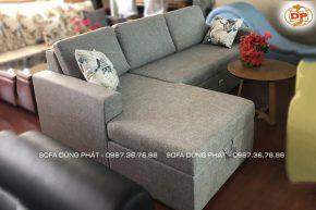 Ghế Sofa Giường Kéo Chữ L Màu Xám Thời Trang DP-GK30