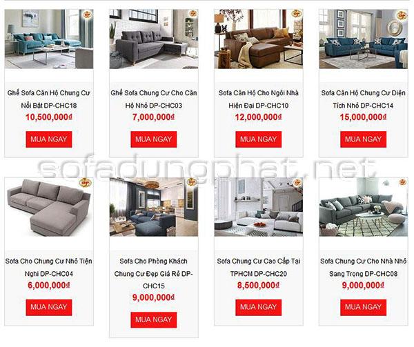 Sofa cho phòng khách chung cư