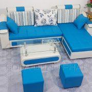Sofa chung cu mau xanh thoi trang DP-CC23