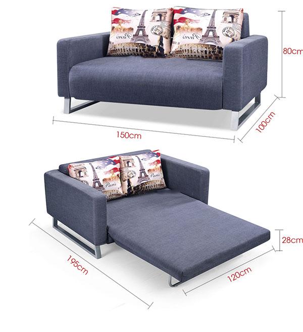 Kích thước sản phẩm ghế sofa bed thông dụng nhất hiện nay