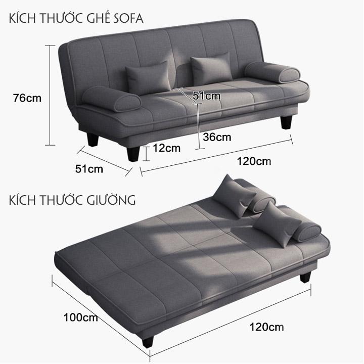 Kích thước những sản phẩm ghế sofa bed bật