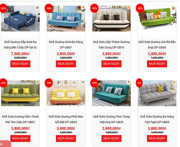 Giá Thành Những Sản Phẩm Sofa Giường - Sofa Bed