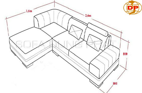 Kích thước những sản phẩm sofa da