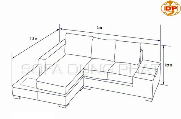 Kích thước mẫu ghế sofa da