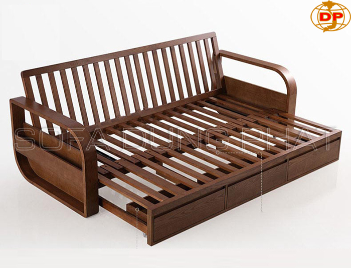 Ghế sofa gỗ kéo thành giường thông minh