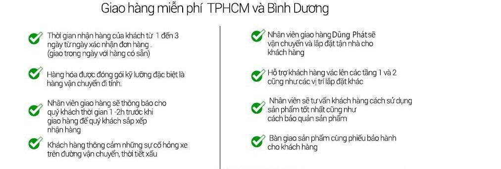 Giao Hàng Miễn Phí TPHCM, Bình Dương