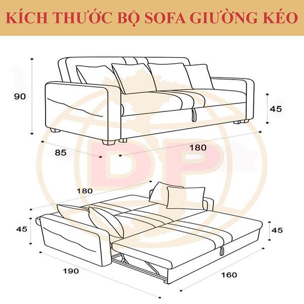 Kích thước sofa giường cao cấp