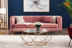 Ghế Sofa Băng Màu Hồng Dịu Dàng Và Thanh Lịch DP-B40