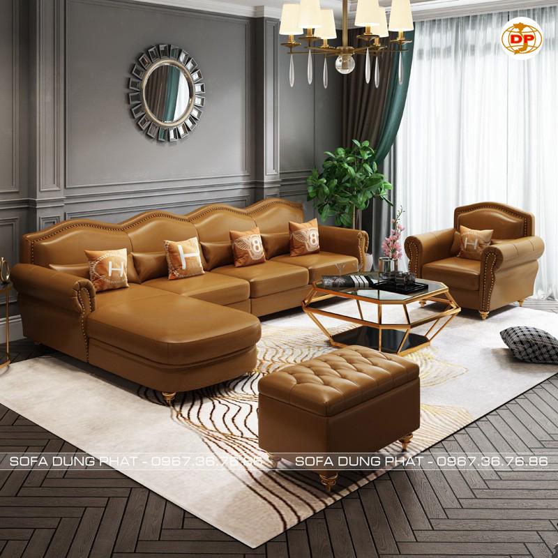 Sofa Nhập Khẩu Cao Cấp Da Hàn Quốc Bóng Mịn DP-CC55 đẹp