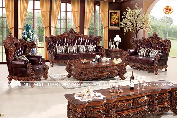 Ghế Sofa Cổ Điển Chạm Khắc Nghệ Thuật Hoàng Gia DP-CD57