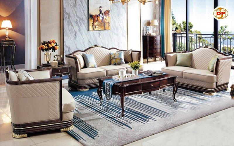 Sofa Tân Cổ Điển Đẹp Tinh Giản Giá Rẻ DP-CD51