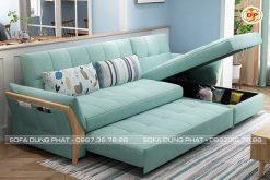 Sofa Giường Vải Bố Êm Ái Sắc Xanh Thanh Lịch DP-GK43