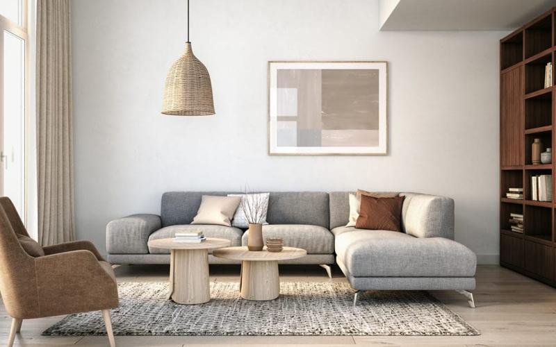 sofa phòng khách Bắc Âu đang được yêu thích