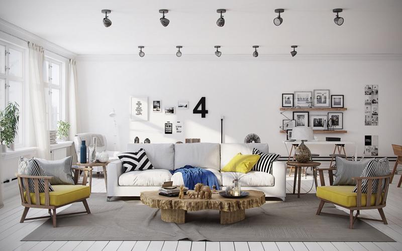 sofa phòng khách Bắc Âu đẹp
