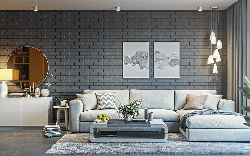 trang trí phòng khách bằng ghế sofa