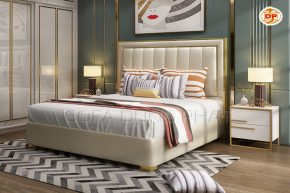 Giường Ngủ Màu Trắng Cho Phòng Ngủ Luôn Tươi Sáng DP-GN54