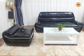 Sofa Băng Chất Liệu Da Phối Viền Ghế Sắc Nét DP-B27
