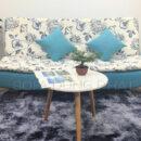 Sofa Giường Vải In Hoa Trang Nhã DP-GB17