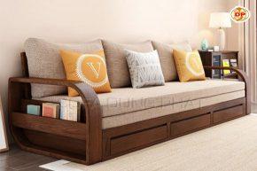 Ghế Sofa Giường Chất Liệu Gỗ Bền Đẹp Mộc Mạc DP-GK18