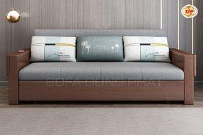 Ghế Sofa Giường Kéo Nhập Khẩu Thiết Kế Tay Gỗ Tiện Lợi DP-GK50