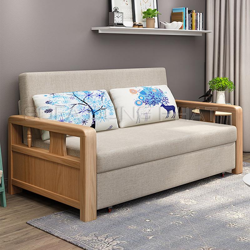 Sofa Giường Nhập Khẩu Gỗ Đẹp Mộc Mạc DP-GK52 đẹp