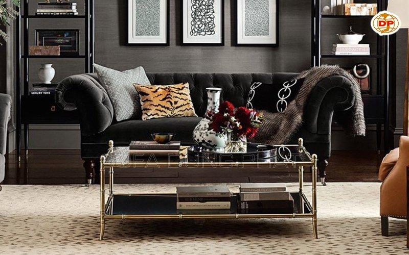 sofa màu đen thẩm mỹ