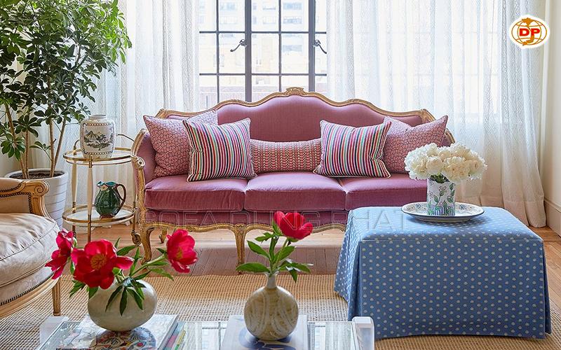 sofa vải nhung chất lượng