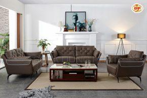 Bộ Ghế Sofa Nhập Khẩu Màu Trầm Ấm Viền Trắng Nổi Bật DP-NK36