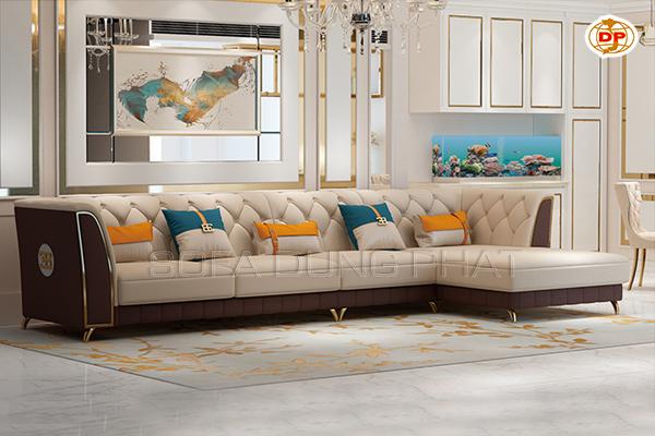 Sofa Nhập Khẩu Dạng Góc Phối Màu Đẹp Cuốn Hút DP-NK52