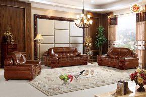 Bộ Sofa Nhập Khẩu Bọc Da Cao Cấp Đẹp Lộng Lẫy DP-NK103
